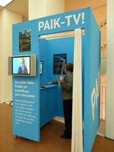TV-Box im Museumsfoyer