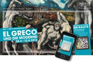 Durch QR-Codes das Werk El Grecos entdecken: Die kleinen Helfer im Einsatz.