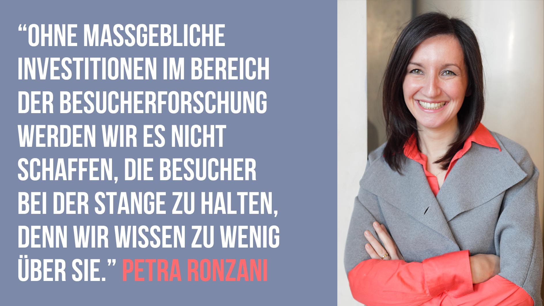 Petra Ronzani im Interview mit Barbara Wolf