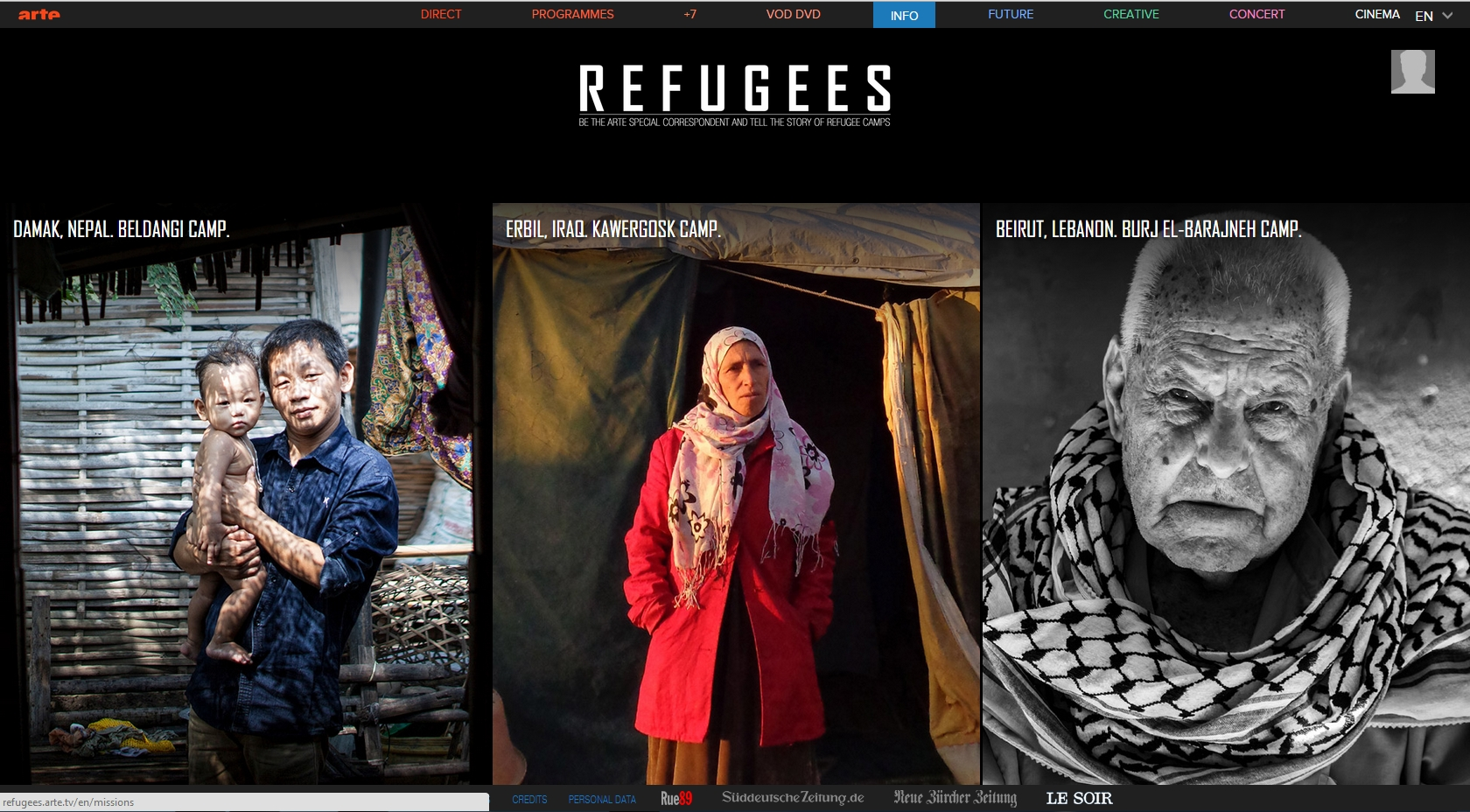 Newsgame ARTE Refugees