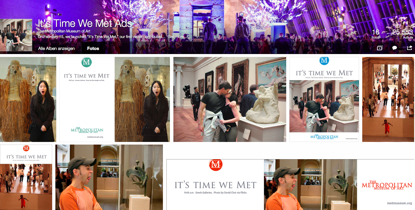 "Kampagne ""It's time we met"" des Metropolitan Museum of Art"