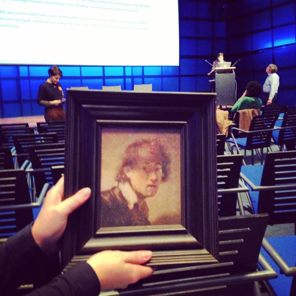 Das Rembrandt Selbstbildnis war auch im ZKM