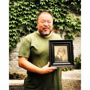 Rembrandt mit dem Künstler Ai Weiwei