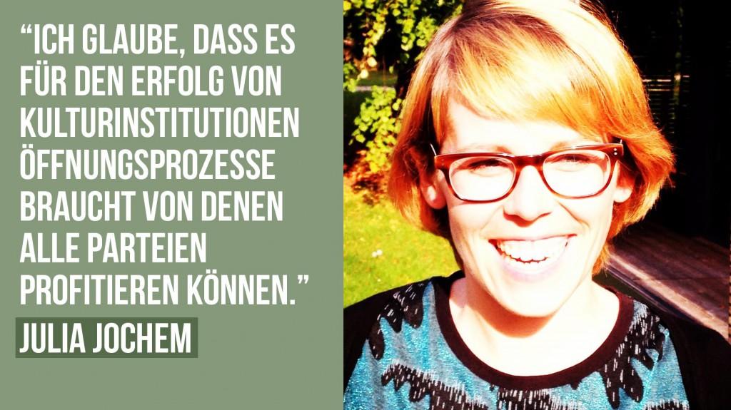 Fünf Fragen an Julia Jochen, ZKM Karlsruhe